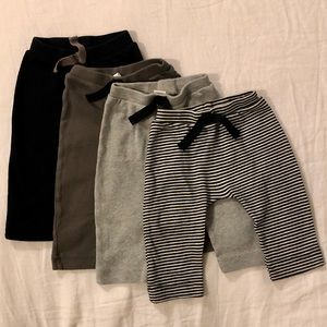 Four (4) pairs of Organic Cotton Infant Joggers